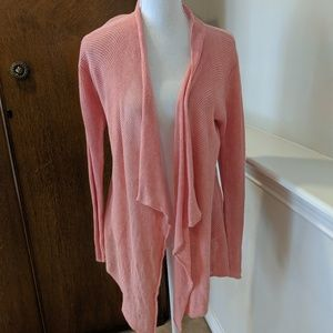 Eileen Fisher Cardigan 100% Linen Knit Lagenlook